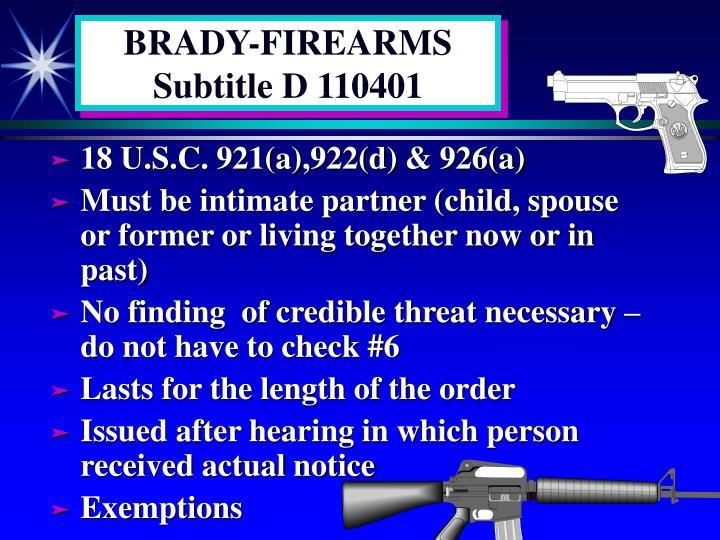 BRADY-FIREARMS