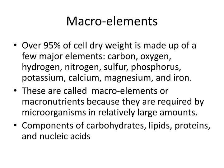 Macro-elements