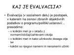 kaj je evalvacija1