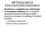 metodologija evalvacijskih raziskav1