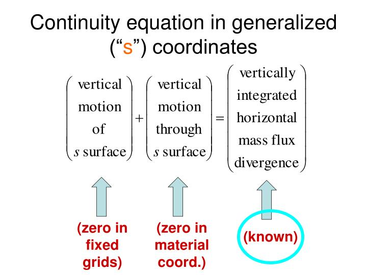 """Continuity equation in generalized ("""""""