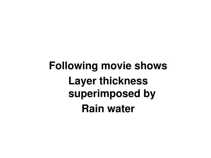 Following movie shows