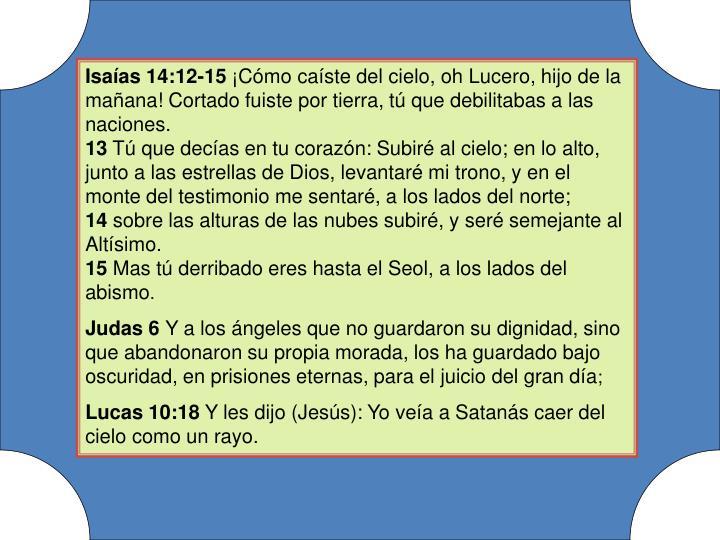 Isaías 14:12-15