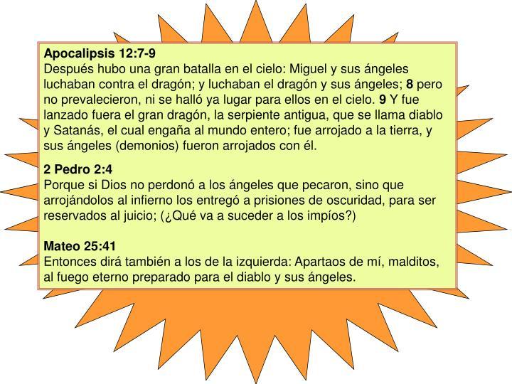 Apocalipsis 12:7-9