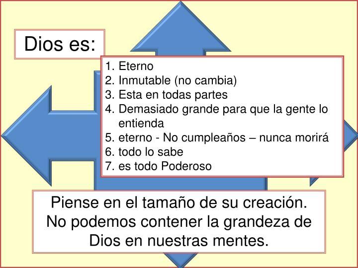 Dios es: