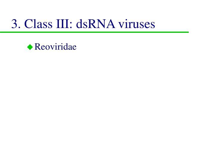 3. Class III: dsRNA viruses