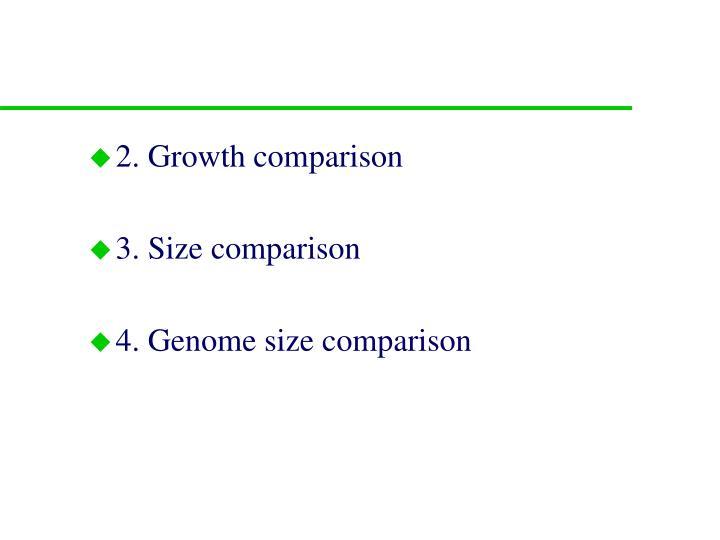 2. Growth comparison
