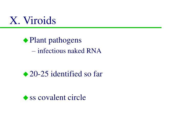 X. Viroids