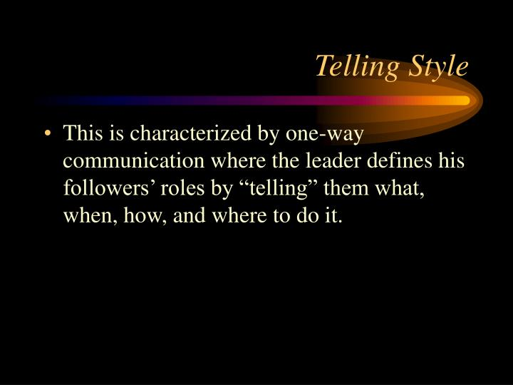 Telling Style