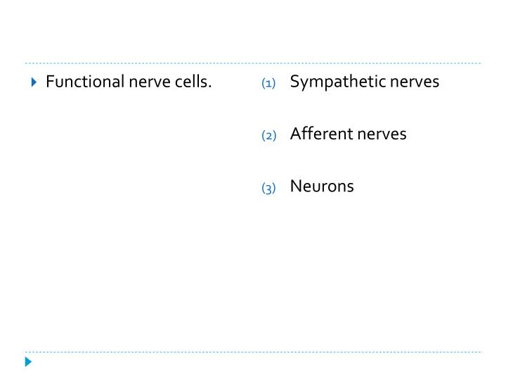 Functional nerve cells.