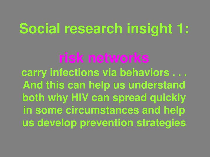 Social research insight 1: