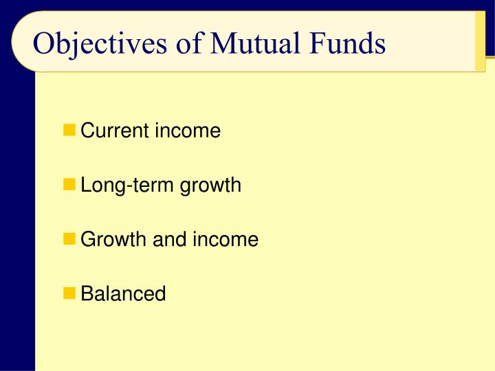 Objectives of Mutual Funds | Finance - Zacks