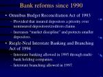 bank reforms since 19901