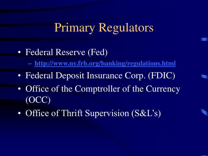 Primary Regulators
