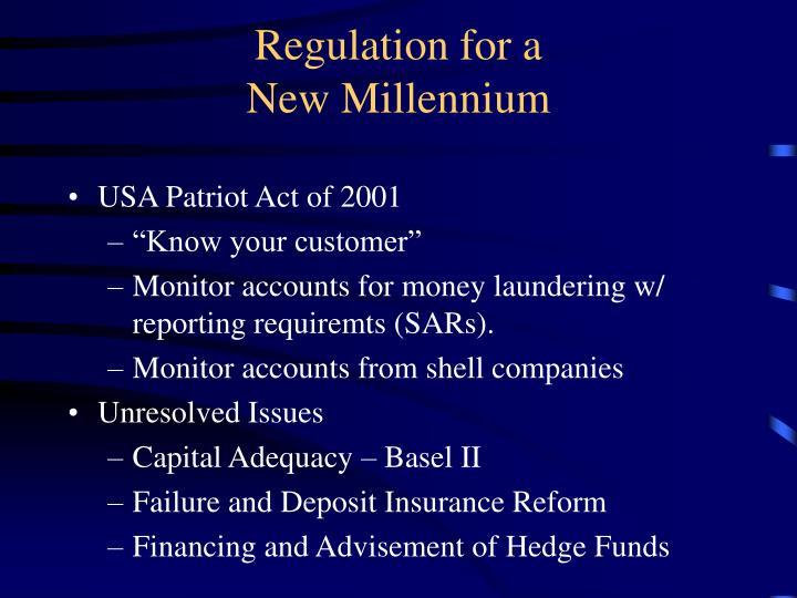 Regulation for a