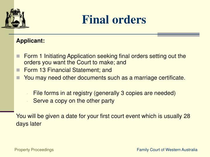 Applicant: