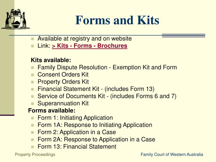 Forms and Kits