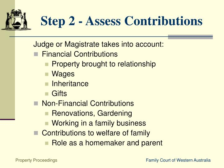 Step 2 - Assess Contributions