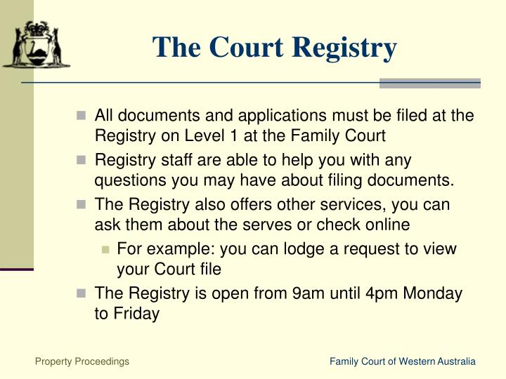 The Court Registry