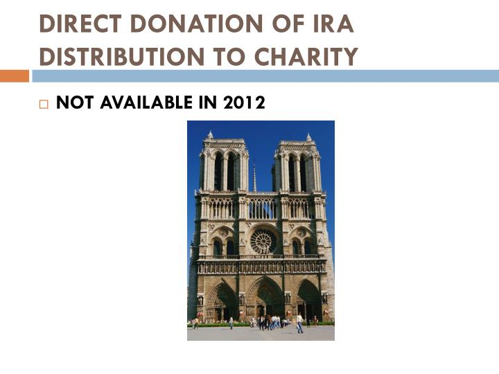 DIRECT DONATION OF IRA