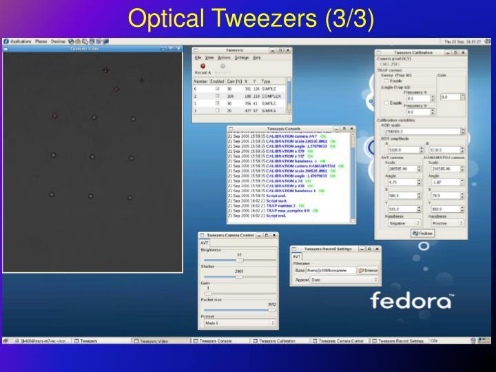 Optical Tweezers (3/3)