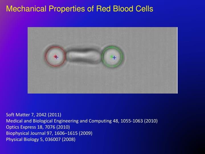 Mechanical Properties of Red Blood Cells