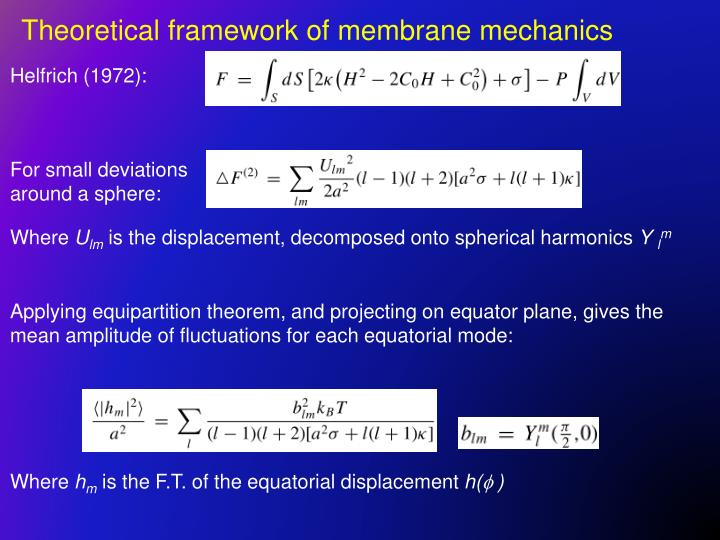 Theoretical framework of membrane mechanics