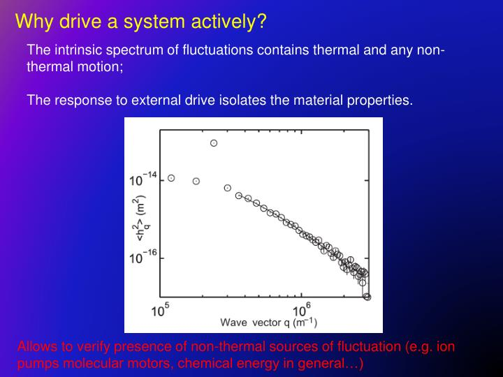 Why drive a system actively?