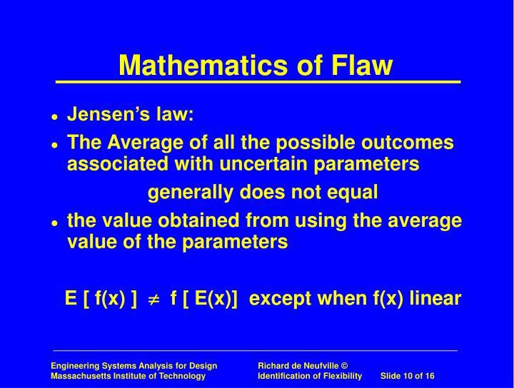 Mathematics of Flaw