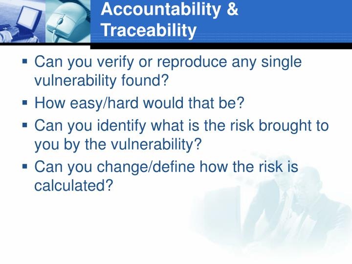 Accountability & Traceability