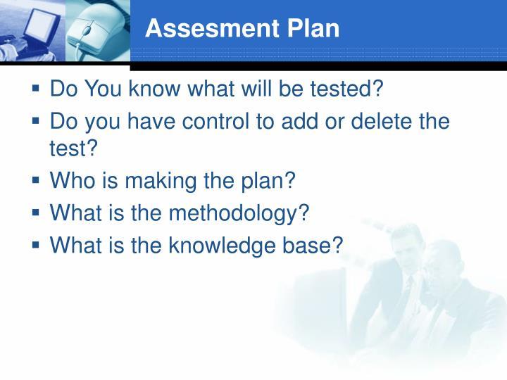 Assesment Plan