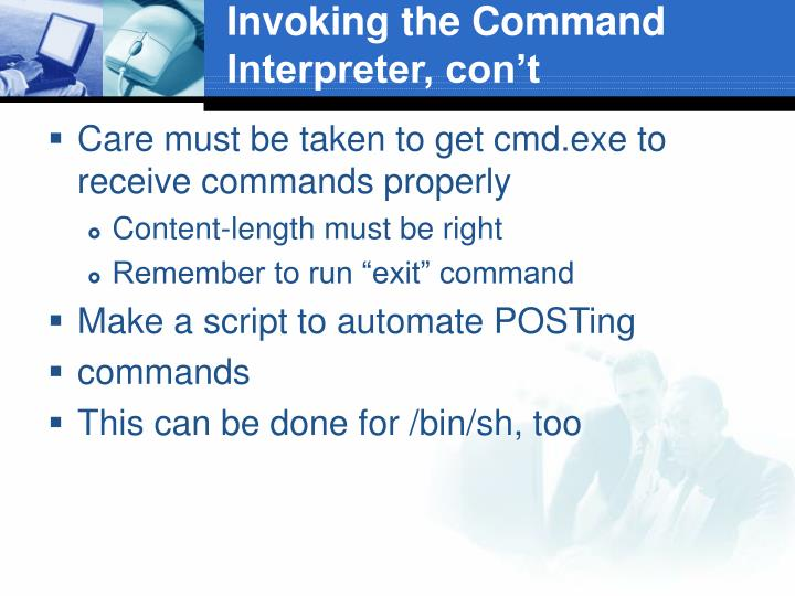 Invoking the Command