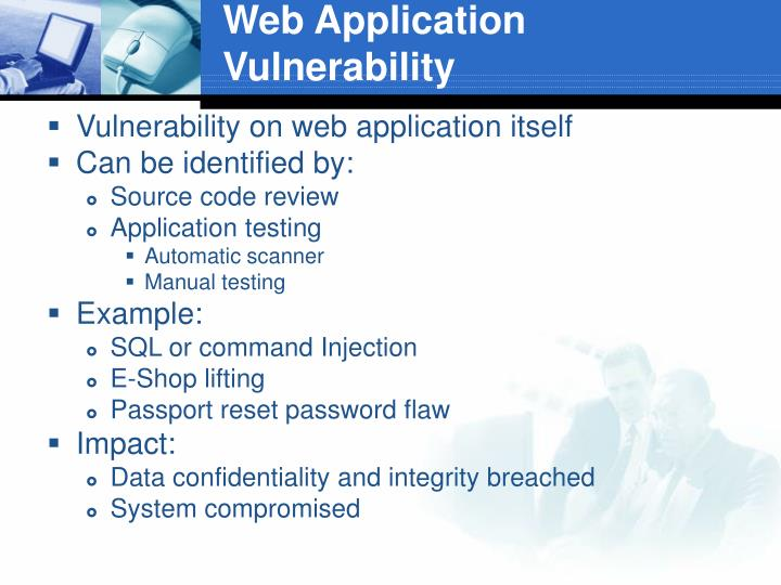 Web Application Vulnerability