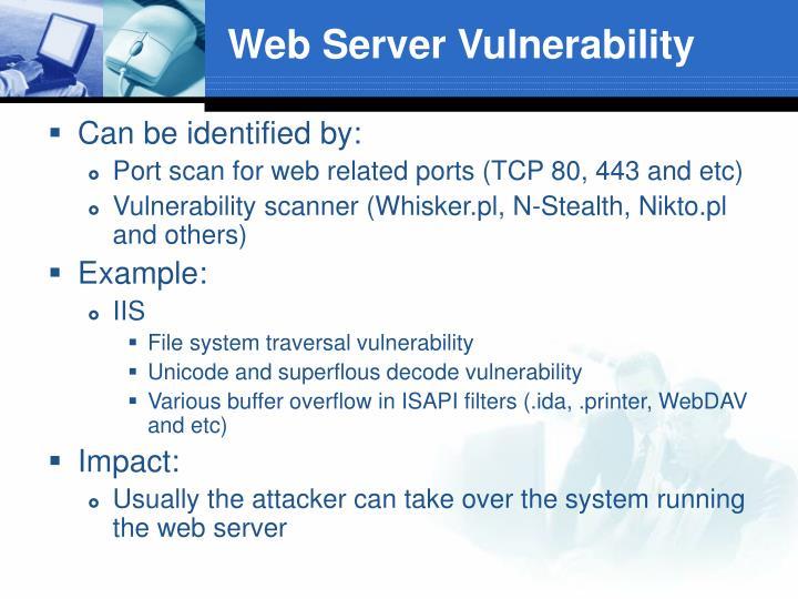 Web Server Vulnerability