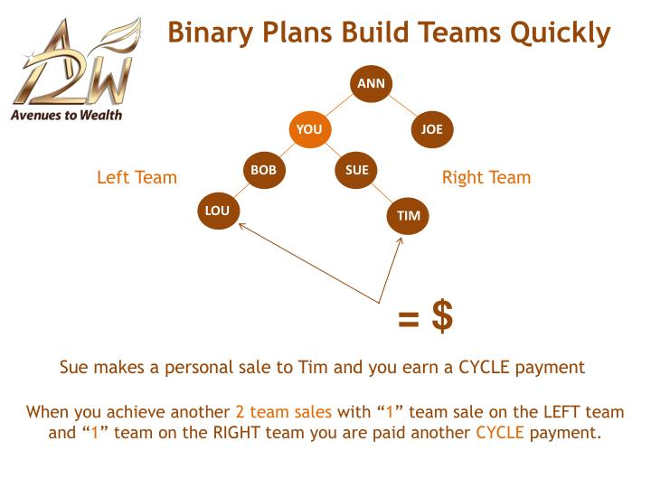 Binary Plans Build Teams Quickly
