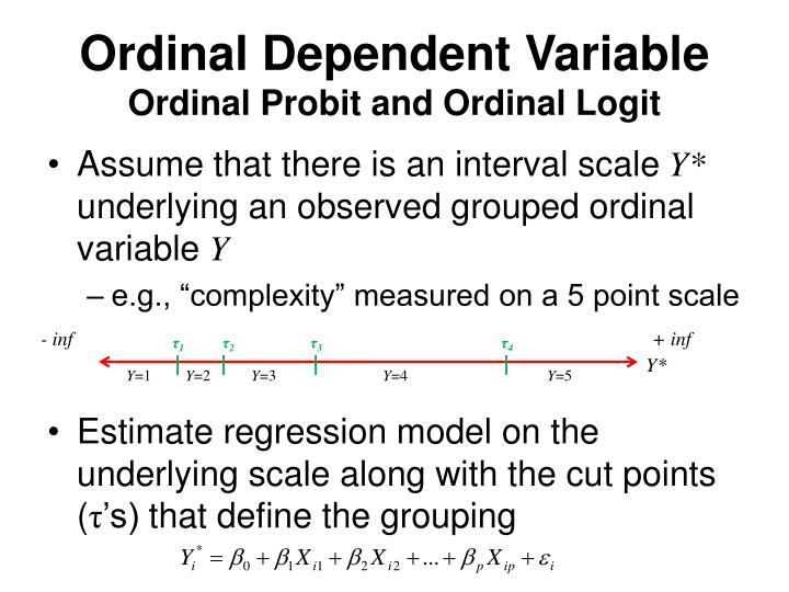 Ordinal Dependent Variable