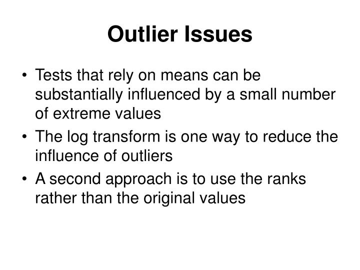 Outlier Issues