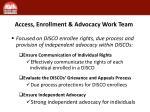 access enrollment advocacy work team
