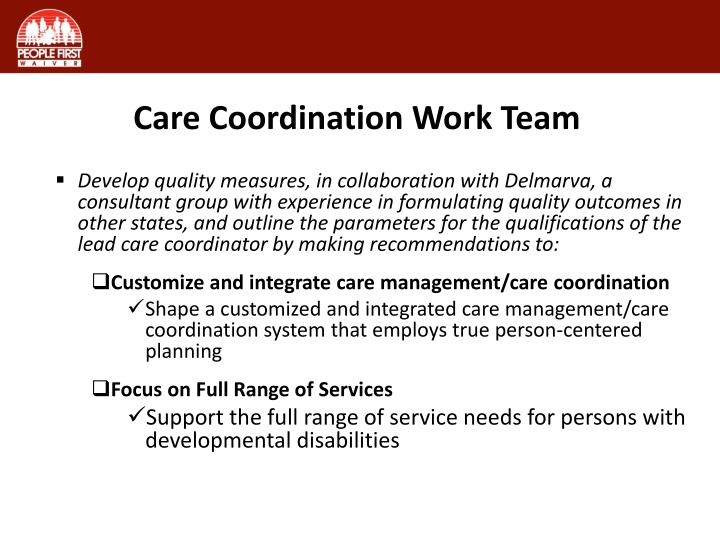 Care Coordination Work Team