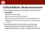 critical reform needs assessment1