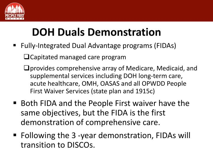 DOH Duals Demonstration