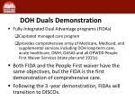 doh duals demonstration1