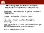 modernizing the fiscal platform work team potential timeline for payment reform process