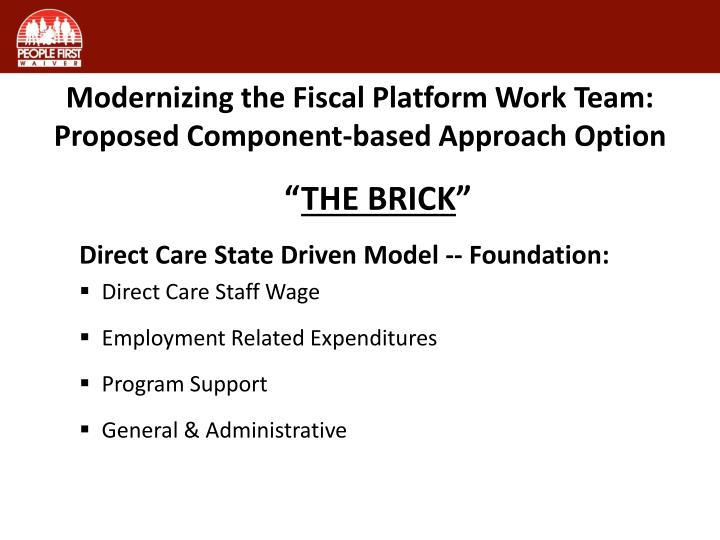 Modernizing the Fiscal Platform Work Team: