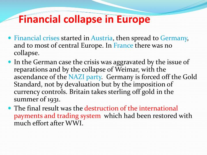Financial collapse in Europe