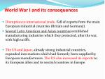 world war i and its consequences