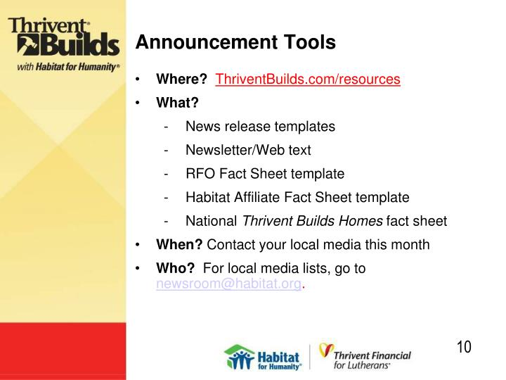 Announcement Tools