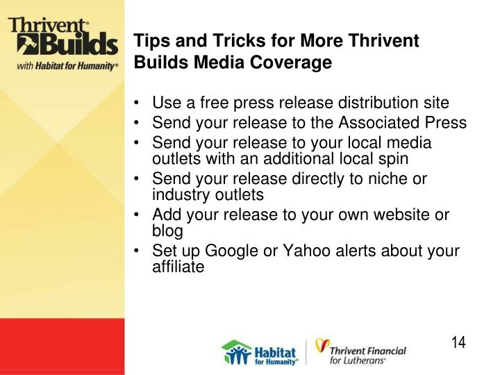 Tips and Tricks for More Thrivent Builds Media Coverage
