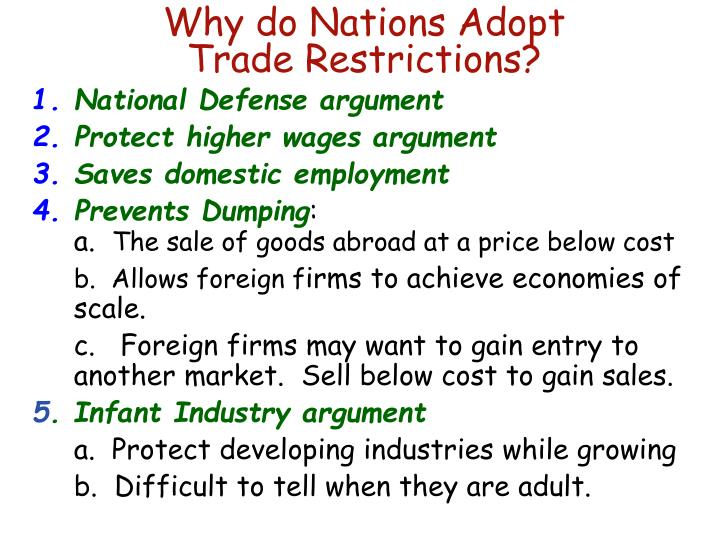 Why do Nations Adopt