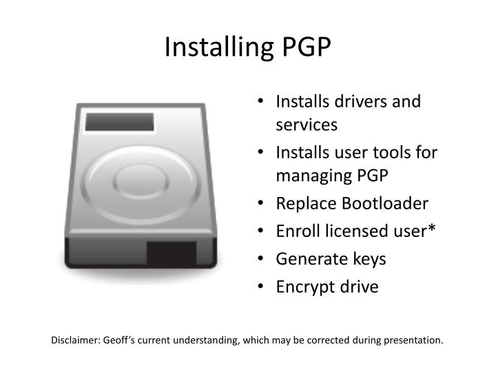 Installing PGP